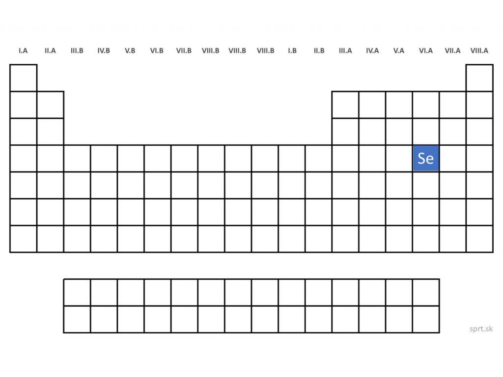 poloha chemického prvku selén chalkogény v periodickej tabuľke prvkov PTP